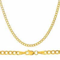 14K Yellow Gold 3.3mm Cuban Chain 20-24inch