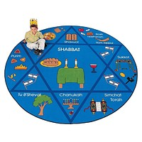 Jewish Holiday Children'S Carpet Rug Playroom Rug
