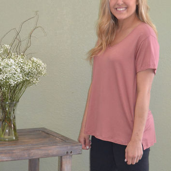 Ready for Spring Top: Mauve