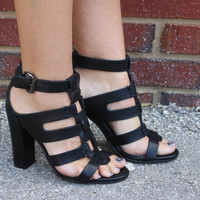 Night Out In The City High Heels - Black
