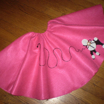 Girls Clothes sz. 6/7 Poodle Skirt....Ready to Ship..... Choice of Four Colors..Father Daughter Dance...Retro Style...Shabby Chic Style.....