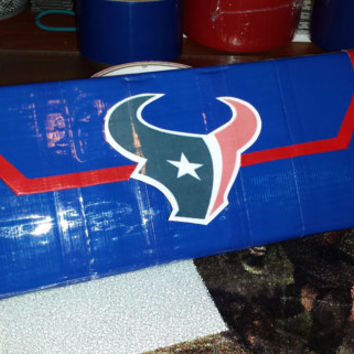 Texans Woman's Clutch Duct Tape Wallet