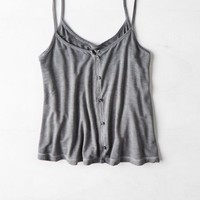 AEO Women's Soft & Sexy Button Front Tank