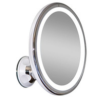"""LED Makeup Mirror - Adjustable 7x Magnification Lighted Makeup Mirror Vanity. Warm LED Tap Light Bathroom Mirror with Powerful Rotating, Locking Suction. 6"""" Wide. Wireless & Compact as Travel Mirror"""