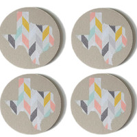 Drink Coasters / Texas Coasters / Fabric Coasters / Coaster Set