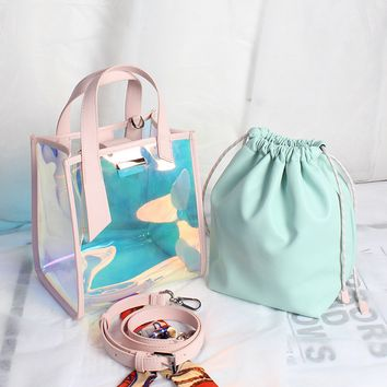 Laser Transparent Handbag Purses