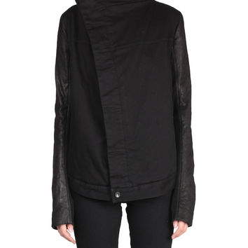 Drkshdw By Rick Owens Denim and leather Exploder jacket