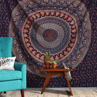 Dorm Tapestry, Hippy Mandala Bohemian Tapestries, Indian Dorm Decor, Psychedelic Tapestry Wall Hanging Ethnic Decorative