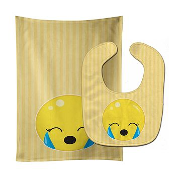 Crying Face #2 Baby Bib & Burp Cloth BB8734STBU