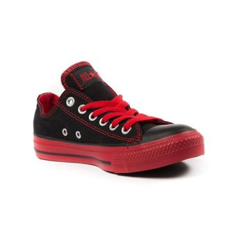 Converse All Star Lo Sneaker, Black Red, at Journeys Shoes