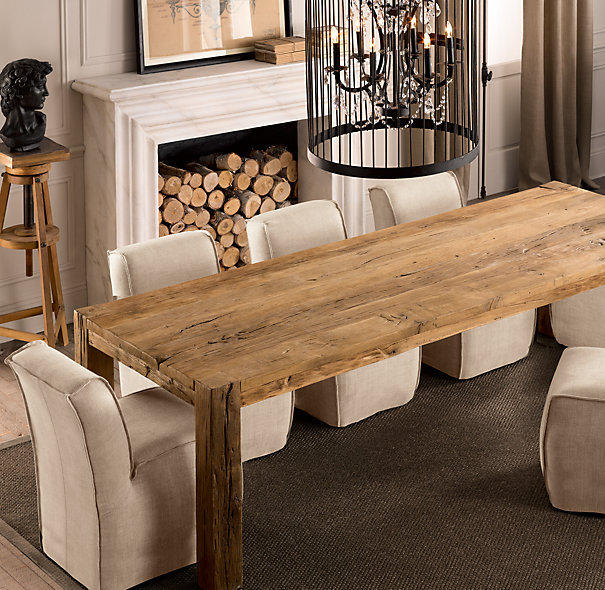 Restoration Hardware Kitchen Tables: Parsons Reclaimed Russian Oak Dining From Restoration Hardware