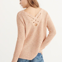 Womens Cross Back Sweater | Womens Tops | Abercrombie.com