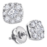 Diamond Fashion Earrings in 14k White Gold 0.51 ctw