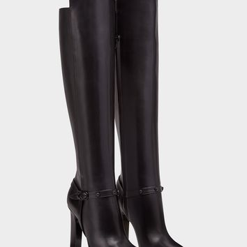 Versace Knee-High Signature Boots for Women | US Online Store