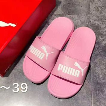 puma pop cat fashion women men leisure slippers pink b a ghsy 1  number 1