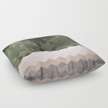 Geometric Pattern Floor Pillow by Salome