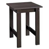 SAUDER Beginnings Collection Square Side Table in Cinnamon Cherry-414289 - The Home Depot