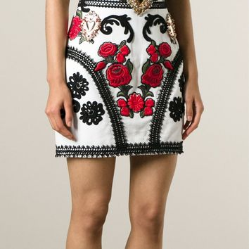 Dolce & Gabbana 'sacred Heart' Embroidered Skirt - Eraldo - Farfetch.com