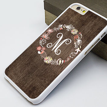 monogram iphone 6 case,wood garland image iphone 6 plus case,classical iphone 5s case,old wood grain floral iphone 5c case,new iphone 5 cover,customizable iphone 4s case,fashion iphone 4 case