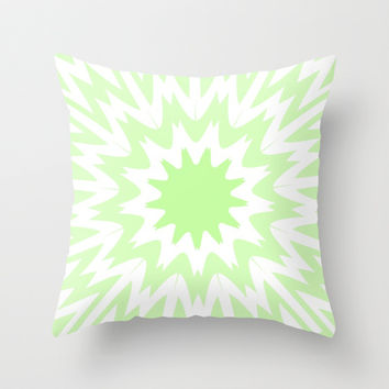 Mint Splash Throw Pillow by Abstracts by Josrick
