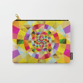Colorful Abstract Swirly Tune Design (Fancy Fresh And Modern Hippy Style) Carry-All Pouch by Jeanette Rietz