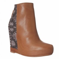 Ella Moss Janelle Wedge Boot - Sienna