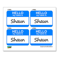 Shaun Hello My Name Is - Sheet of 4 Stickers