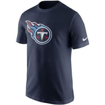 Tennessee Titans Nike Navy Essential Logo T-Shirt