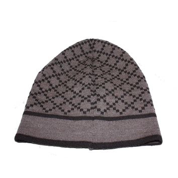 Gucci Diamante Brown Wool Winter Hat, One Size 281600