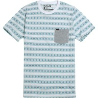 Hurley Arrowhead Stripe Pocket T-Shirt - Mens Tee - White