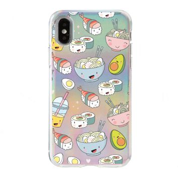 Holographic iPhone Case Cover - Tokyo Foodie