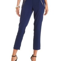 Zipper Pocket Trousers by Charlotte Russe