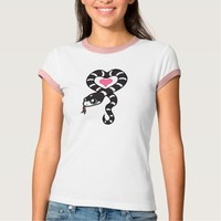 King Snake Love (black and white) Tee Shirts