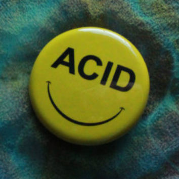 "1.25"" Acid House Face pinback button"