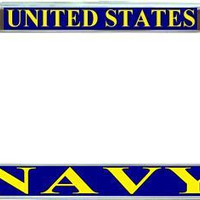 US Navy Blue Military License Plate Frame Holder Car Tag