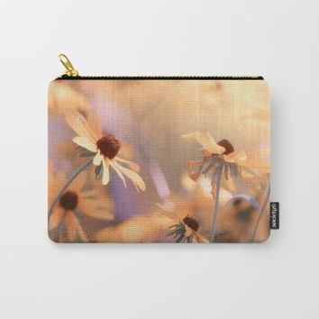 Suns star in the autumn garden Carry-All Pouch by Tanja Riedel
