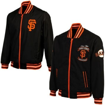 San Francisco Giants Commemorative Twill Reversible Full Zip Jacket - Black