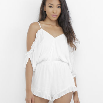 COLD SHOULDER PEASANT ROMPER