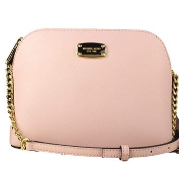 Michael Kors Cindy Large Dome Cross-body in Saffiano Leather