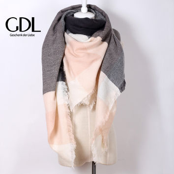 2015 Winter Warm Za brand Cashmere Plaid  for Women oversized Scarf Christmas Wrap Shawl,