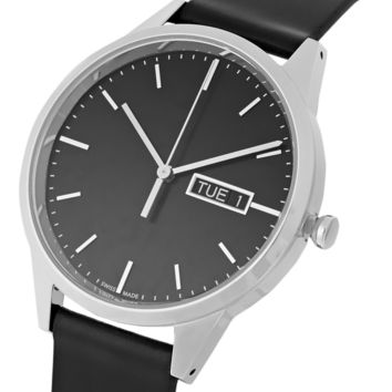 Uniform Wares - C40 Polished Stainless Steel and Cordovan Leather Watch | MR PORTER