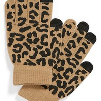 Lulu Animal Print Tech Gloves (Juniors) | Nordstrom