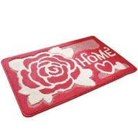 Fortune Cat Carpet Door Ground Foot Non-slip Mat   home garden red   40*60cm
