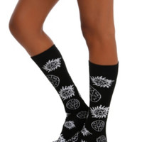 Supernatural Symbols Knee-High Socks