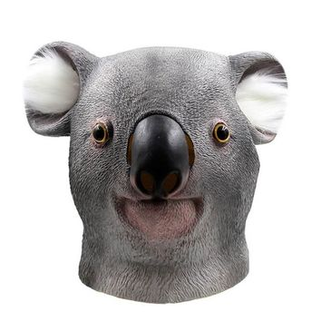 Mask Cute Koala Deluxe Novelty Halloween Costume Party Animal Head Latex Mask
