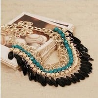 Lvxuan New Fashion Vintage Tassels Chain Statement Necklaces & Pendants Bohemian Necklaces for Women Jewelry:Amazon:Jewelry