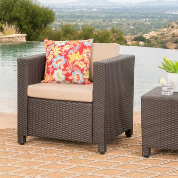 Pueblo Outdoor Wicker Club Chair(s) w/ Water Resistant Cushions