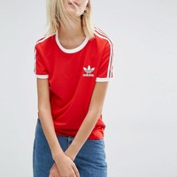 Adidas | Adidas Originals California Three Stripe T-Shirt at ASOS