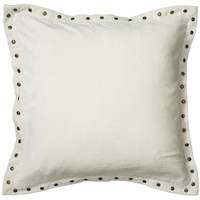 """Solid Velvet with Self Flange White Pillow Cover (18"""" x 18"""")"""