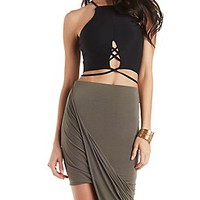 STRAPPY TIE-BACK CROP TOP